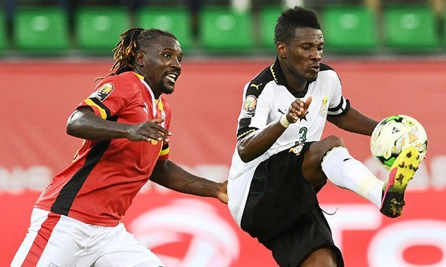 Hassan Wasswa (left) is optimistic the Cranes will overcome Lesotho on Tuesday (file photo)