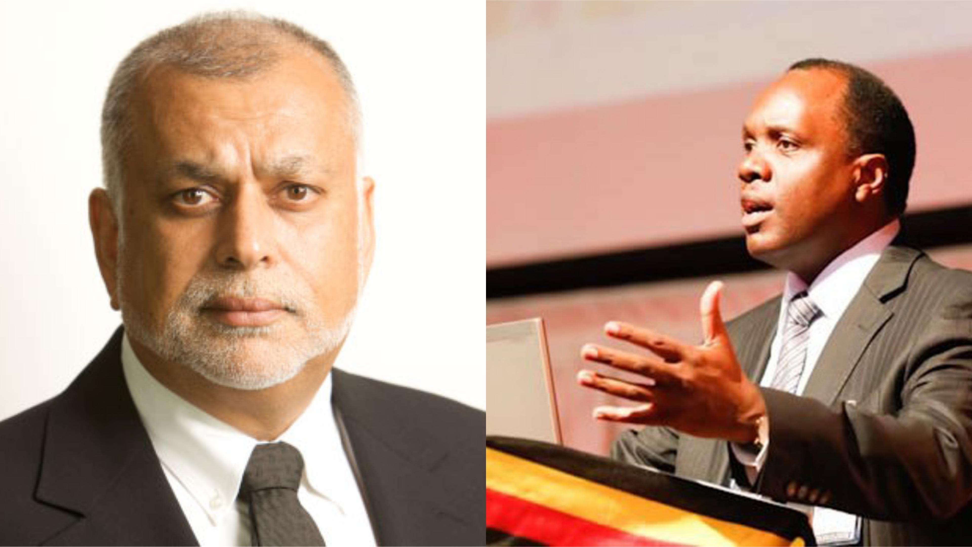 Uganda Businessman, Patrick Bitature (R) has praised Sudhir Ruperalia for mentoring him into business (FILE PHOTO)