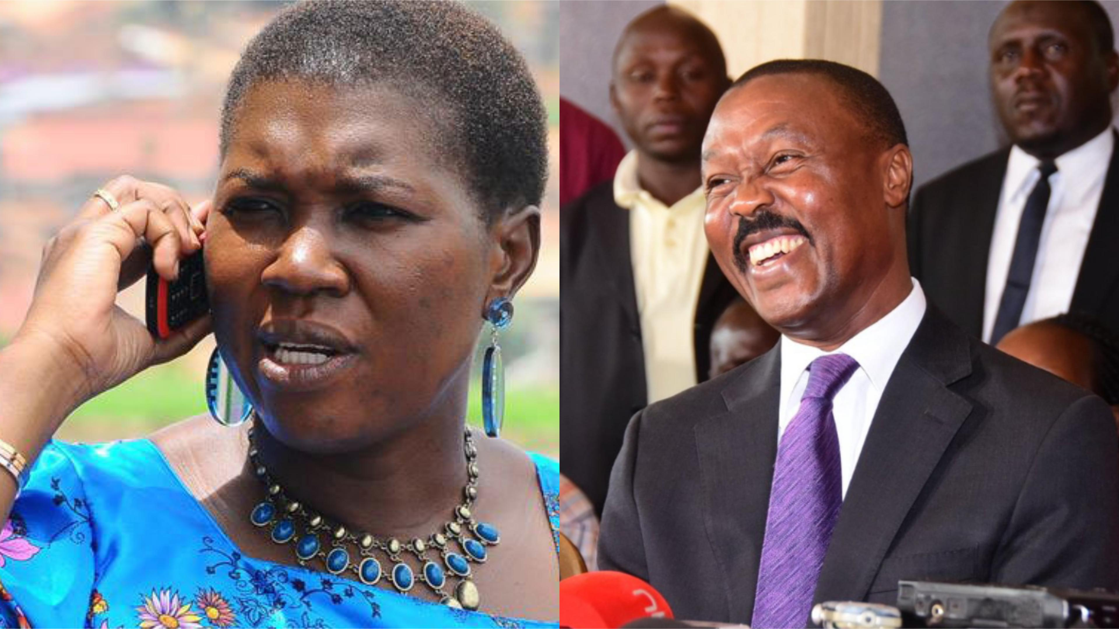 FDC Vice president for eastern region, Ms Salaamu Musumba has slammed the New Formation's Mugisha Muntu citing that he is not competent to lead the country (FILE PHOTO)