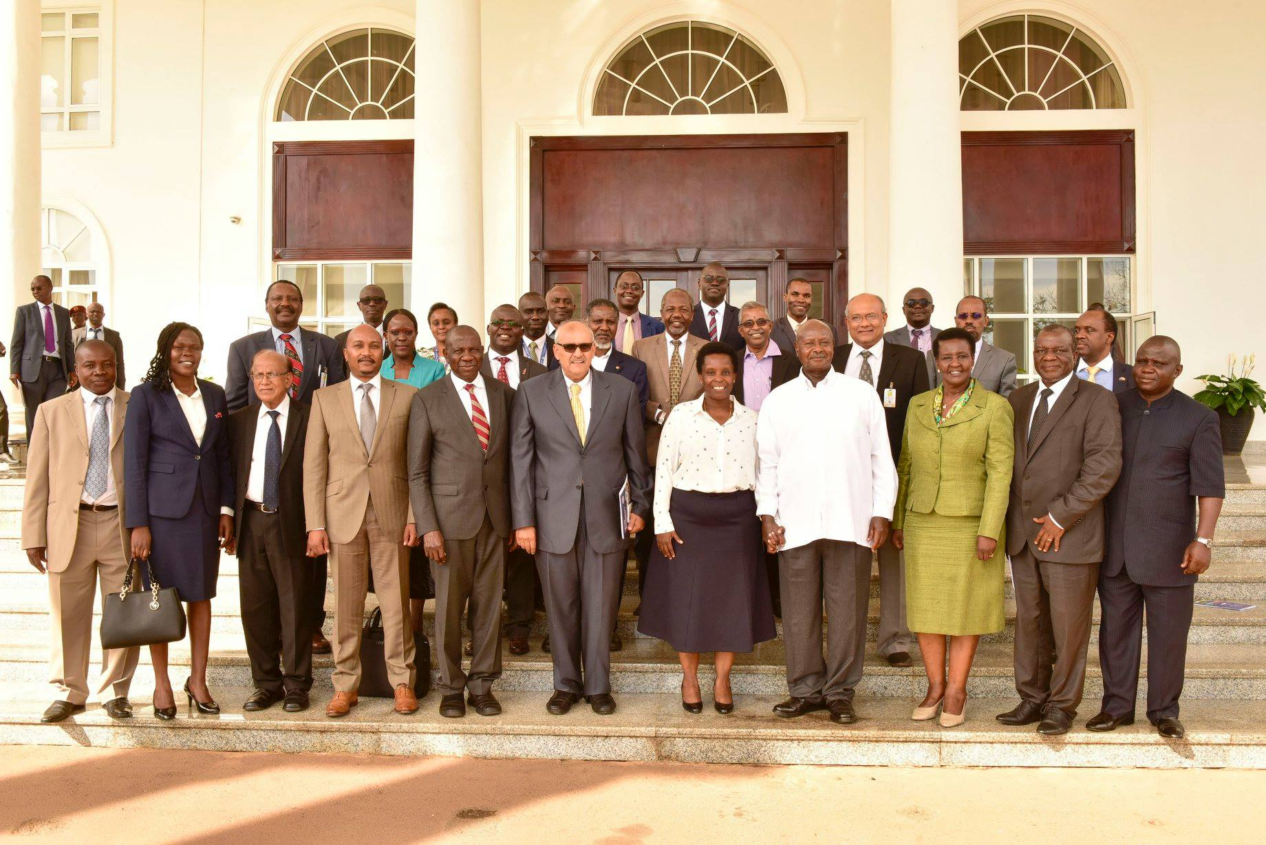 President Museveni hosted delegation from Uganda Manufacturers' Association (UMA) that was led by its Chairperson, Barbra Mulwana and attended by Trade, Industry and Cooperatives Minister, Hon. Amelia Kyambadde, of Finance and Economic Development, Hon. Matia Kasaija and that of State for Privatization, Investment, Hon. Everlyne Anite and Manufacturers (PML Daily PHOTO)