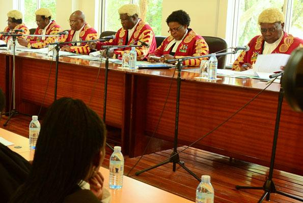 A quorum of judges in the Supreme Court of Uganda. The Supreme Court has confirmed The Supreme Court has set January 15 and 16, 2019 as date it will hear the Age limit appeal (FILE PHOTO)