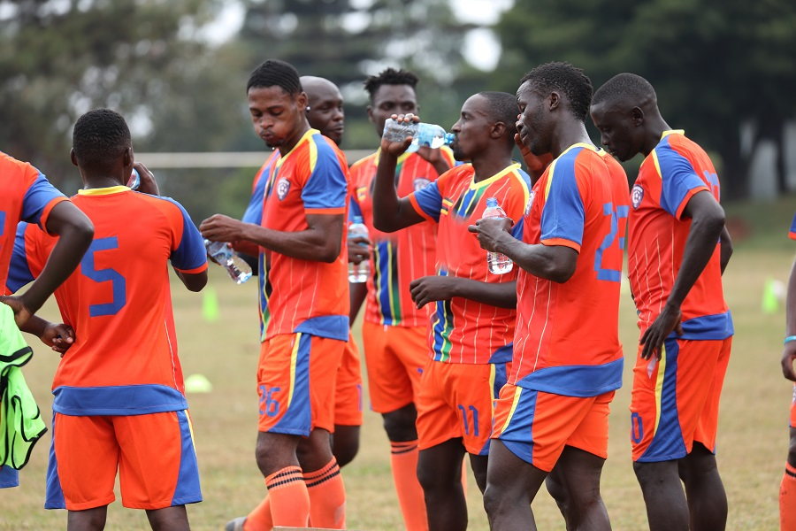 Wakiso Giants players during training this week (photo by Wakiso Giants Media)