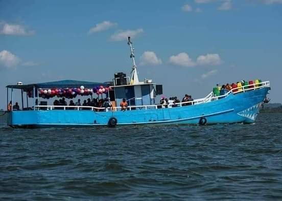 The ill-fated MV K Palm, owned by Templar Bissase Kisosonkole, capsized Saturday Afternoon with over 100 people on board with 32 confirmed dead and scores missing (FILE PHOTO)