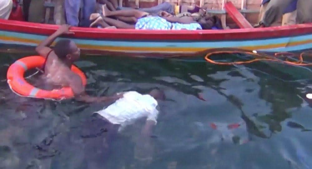 The rescue mission ensues as one of the victim's body is retrieved from Lake Victoria