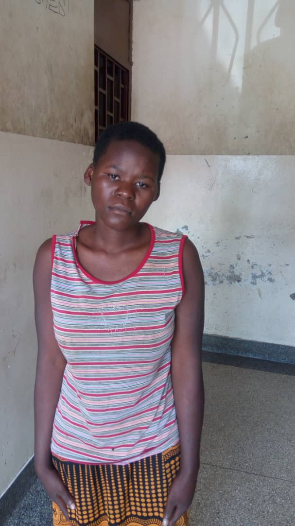 Beatrice Nansanga who murdered her own Baby in detention at  Mbarara police station (POLICE PHOTO)