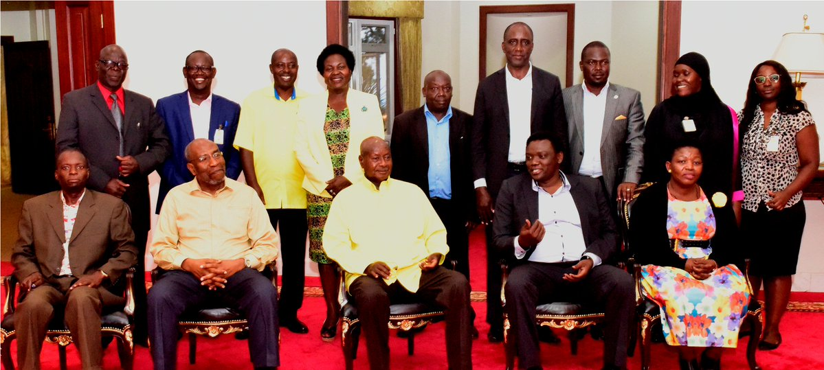 President Yoweri Museveni held a meeting with a delegation of members of the Inter-Party Organisation for Dialogue (IPOD) at State House Entebbe, led by the Chairperson of the organization, Mr. Fred Ebil.(PPU PHOTO)