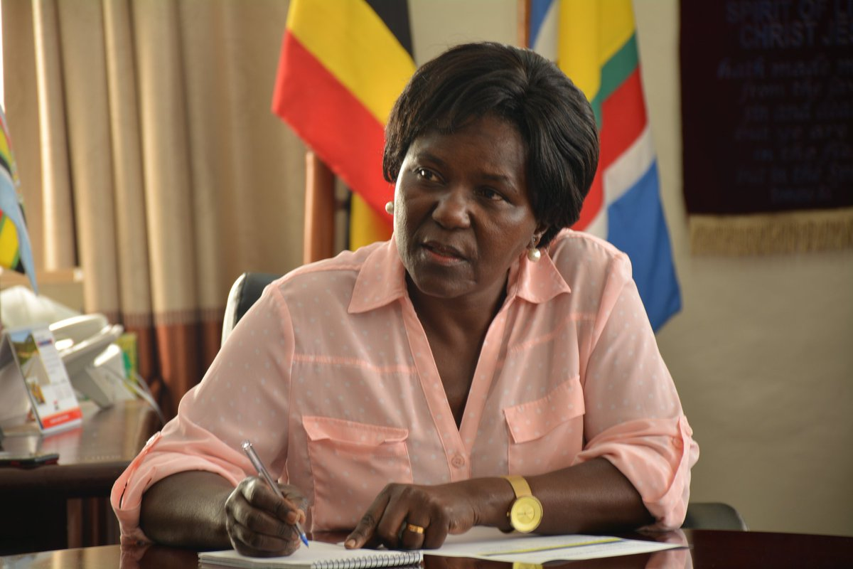 Eng Monica Azuba, the minister of works and transport is on the spot for presenting fake documents on the national arline (FILE PHOTO)