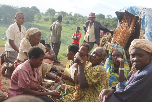 Families evicted in an oil-rich Kyangwali sub-county in Bulinda village