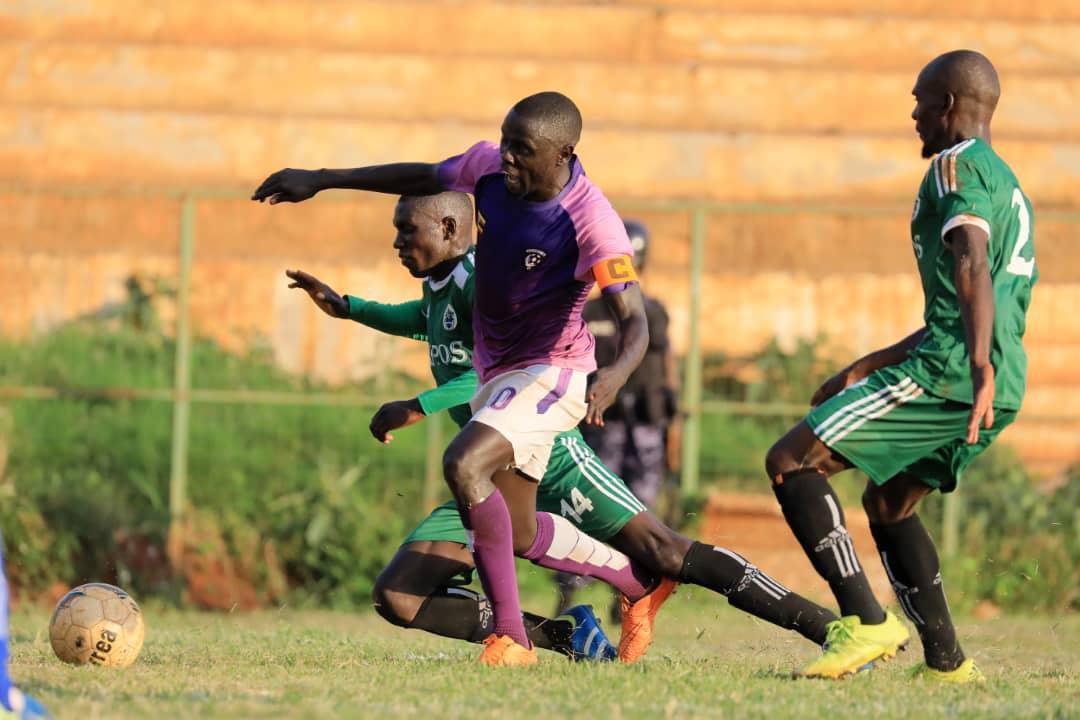 Wakiso Giants' Captain Feni Ali in action against JMC on Thursday (Photo by Rachael Tebandeke)