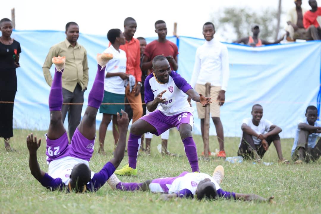 Wakiso players celebrating the goal against Bukedea on Thursday (Photo by Wakiso Giants Media)
