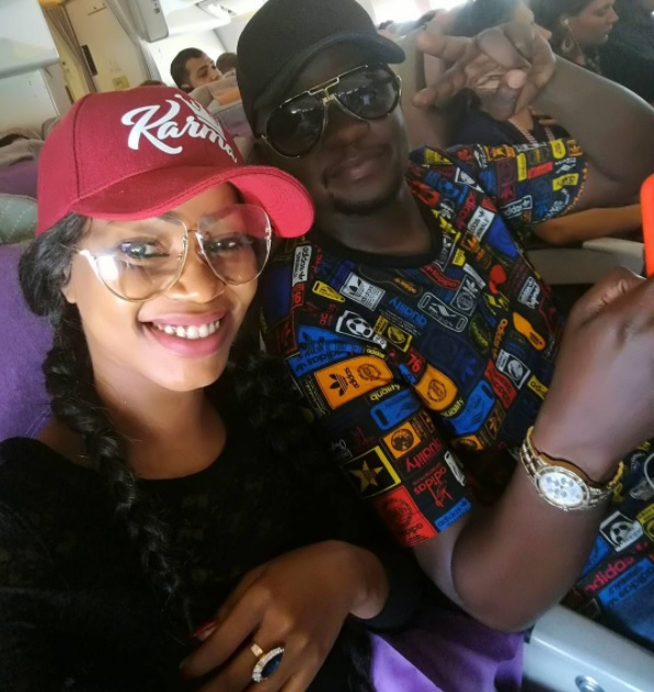 Singer Sheebah Karungi with her manager Jeff Kiwa. (FILE PHOTO)