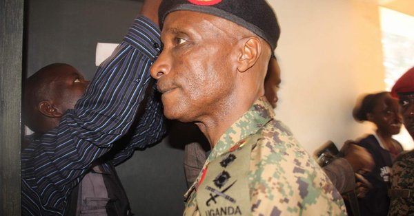 Granted bail on August 28, Former IGP, Gen Kale Kayihura is set to drag state-owned newspaper, NewVision; citing that the paper published malicious and defamatory article (FILE PHOTO)