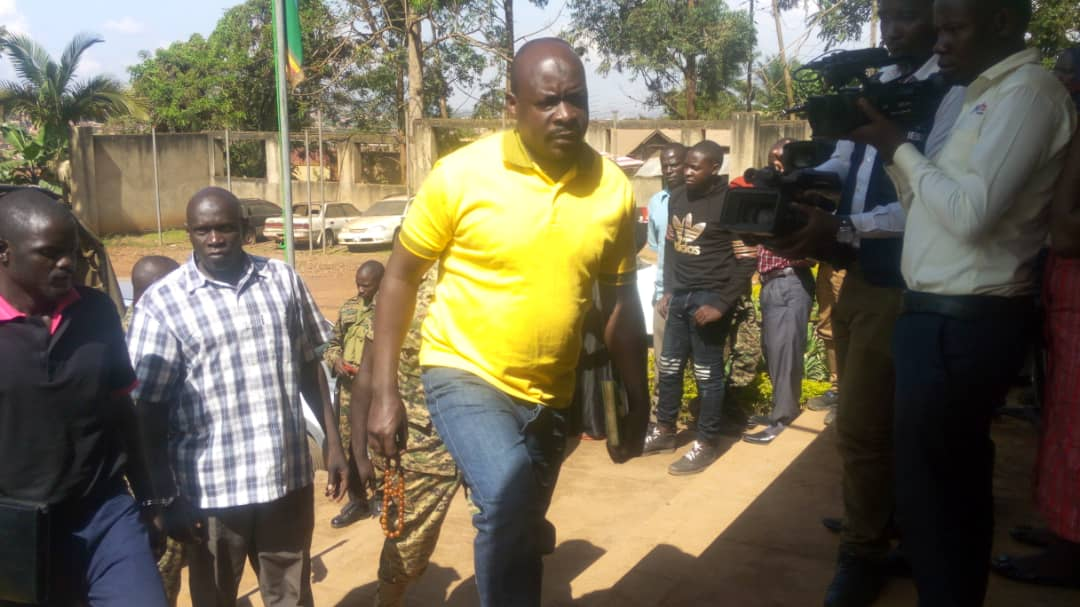 Kitatta heading to court together with his co- accused. The former BodaBoda 2010 patron has labelled charges levelled against him as malicious (FILE PHOTO)