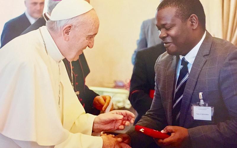 Makerere-CAES-Prof-Banadda-Pope-Francis-Pius-XI-Medal-12thNov2018-Story last