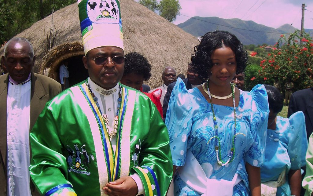 Rwenzururu King Mumbere and his wife at a function. The cultural leader has been in incarserstion (FILE PHOTO)