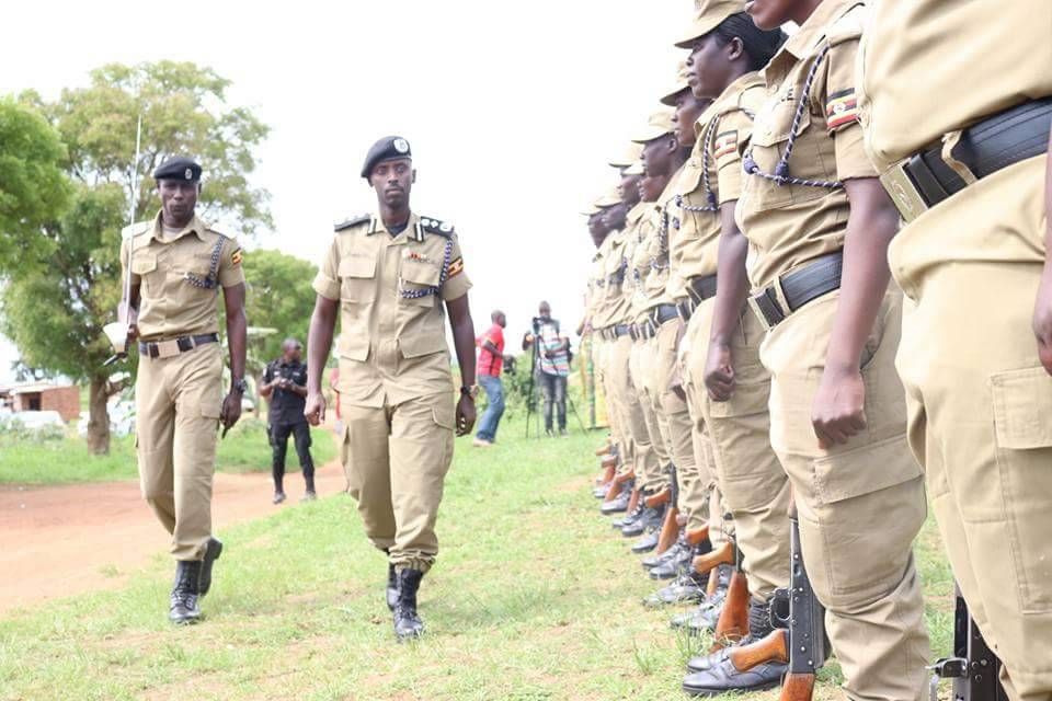 Deputy Inspector General of Police Brig Sabiiti Muzeeyi inspects a guard of honour recently. Foreign investors have expressed concern over the increasing attacks on their businesses even after the To operation was sanctioned (FILE PHOTO)