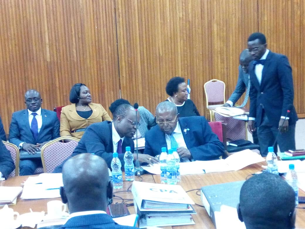 A team from Bank of Uganda led by Governor Emmanuel Mutebile and his deputy, Louis Kasekende on Thursday, November 1 appeared before COSASE. They are set to face COSASE this morning Monday November 5 (FILE PHOTO)