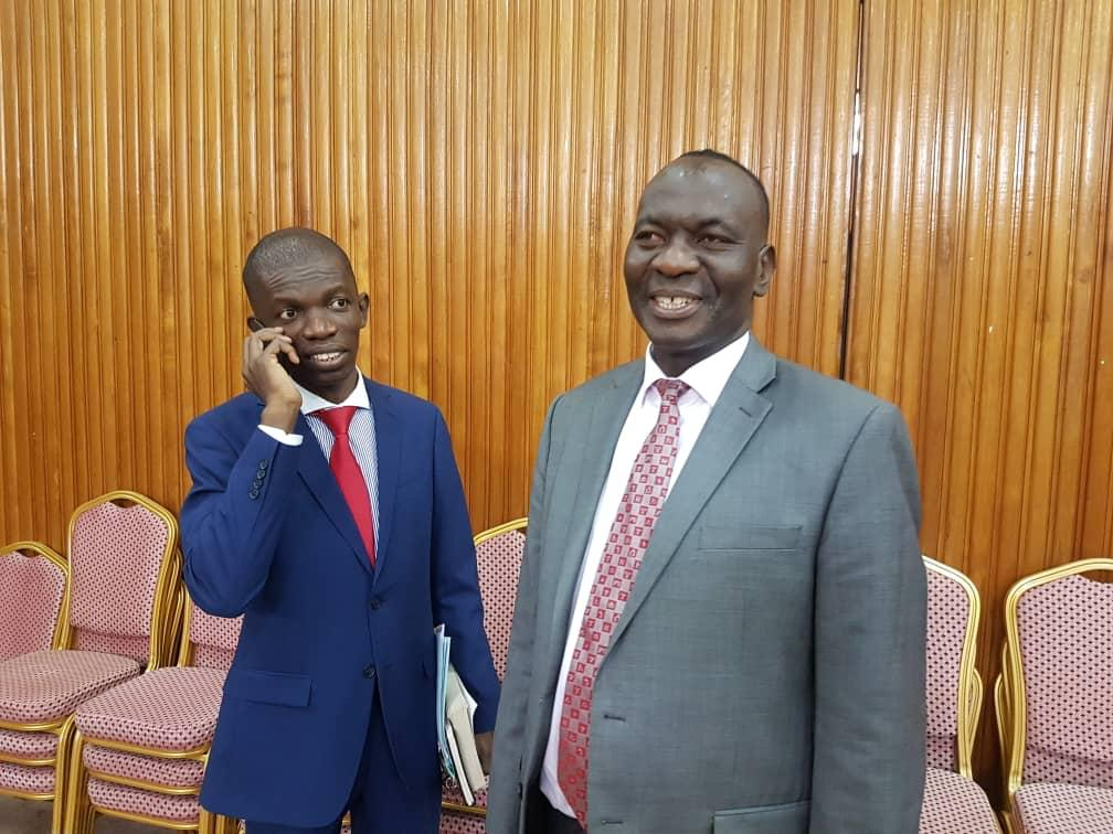 Bagyenda's lawyer Hassan Kirunda infuriated MPs when he reported her client is out of the country (PML Daily PHOTO)