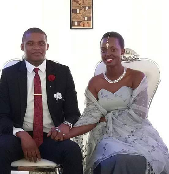 NTV presenters Flavia Tumusiime and hubby  Andrew Kabuura at their introduction November 17, 2018. (PML Daily PHOTO)
