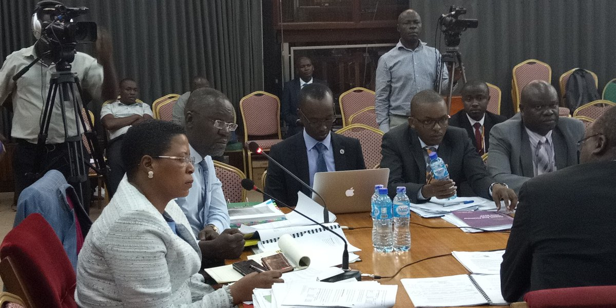 COSASE Vice chairperson, Anita Among cross examines BoU-officials in November 2018.  (FILE PHOTO)