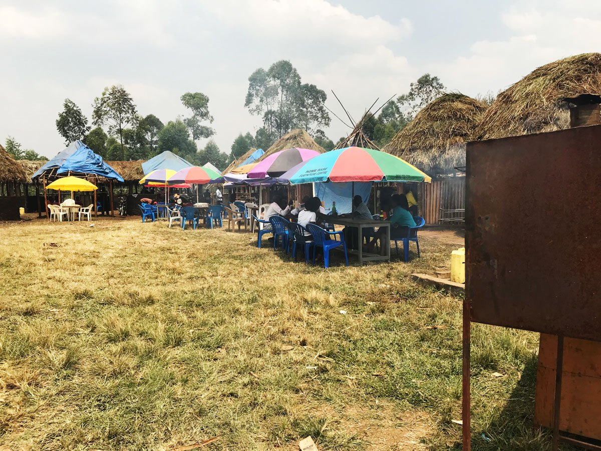 Kabagarame has over the past few years been known to draw affluent crowds at the weekends as they eat pan-fried pork inside the grass-thatched houses amid rounds of local beer brew (FILE PHOTO)