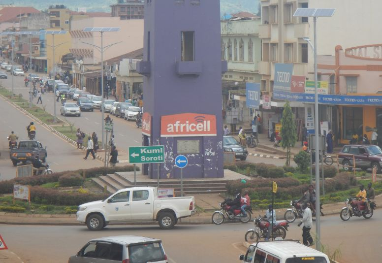 The overview of Mbale town following the installation of street lights and upgrade of the roads (Photo by DMAFABI)