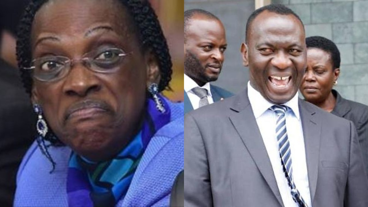 Former BoU Director of Supervision, Justine Bagyenda and the director of Financial Markets Development Coordination, Ssekabira take center stage in the on going Bank Probe (FILE PHOTO)