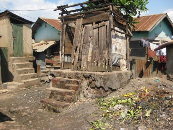 One in Four household use 'hanging latrines' in urban areas in Uganda (FILE PHOTO)