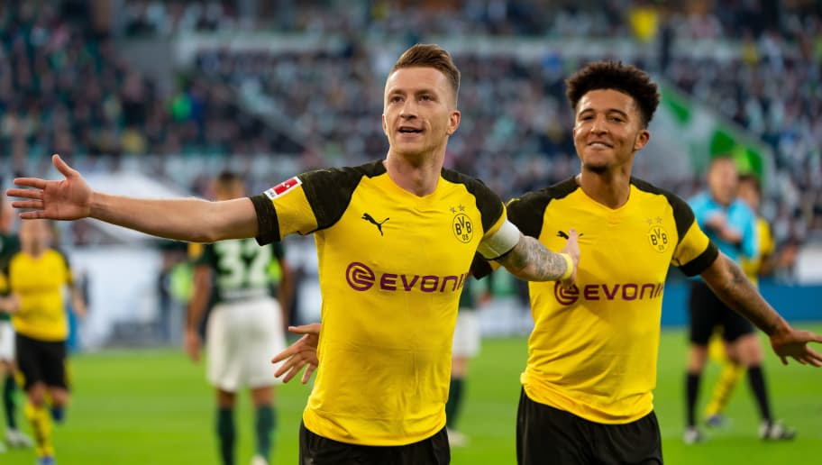 Reus scored the only goal as Dortmund defeated Wolfsburg 1-0 on Saturday