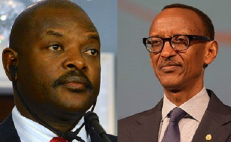 Burundi's President Pierre Nkurunziza and Rwanda's President Paul Kagame. Tension between the two nations continues to grow