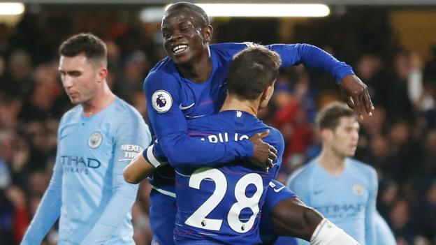 Chelsea defeated City 2-0 on Saturday