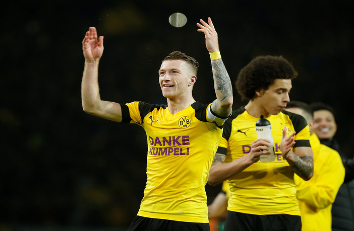 Rues scored the winner as Dortmund defeated Gladbach 2-1 on Friday (Photos by Agency)