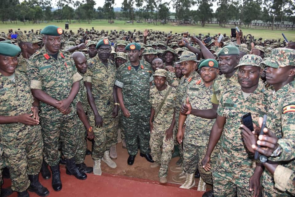 Officers attached to the 'Uganda Battle Group Twenty Six (UGBAG XXVI) were dispatch for Somalia as UPDF contined to foster capacity of Somali forces (UPDF PHOTO)