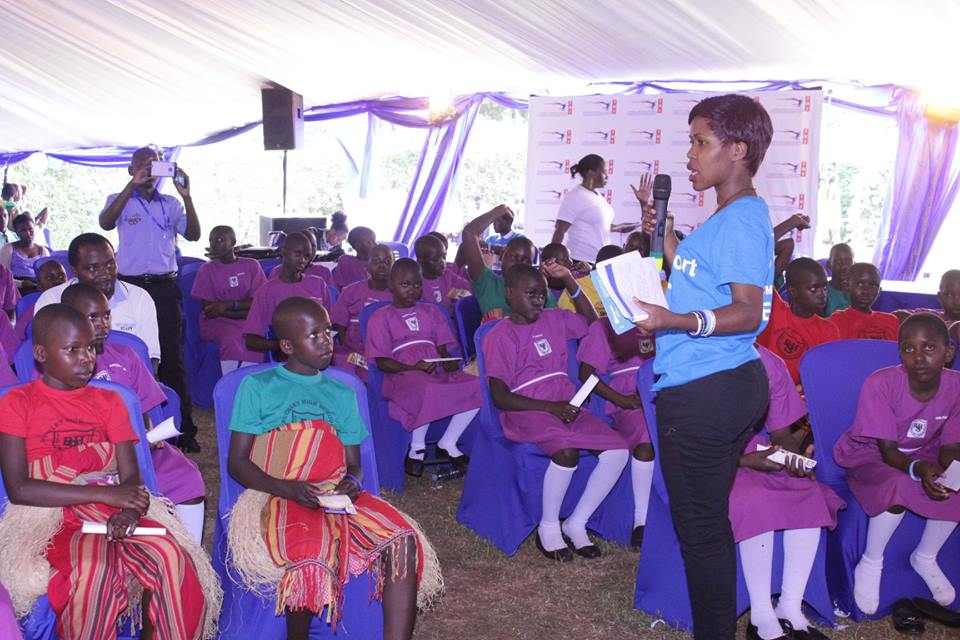 Ms. Agnes Nabachwa a development communicatot with TMF Uganda engage students against teenage pregnancy and early child bearing (PML Daily Photo)
