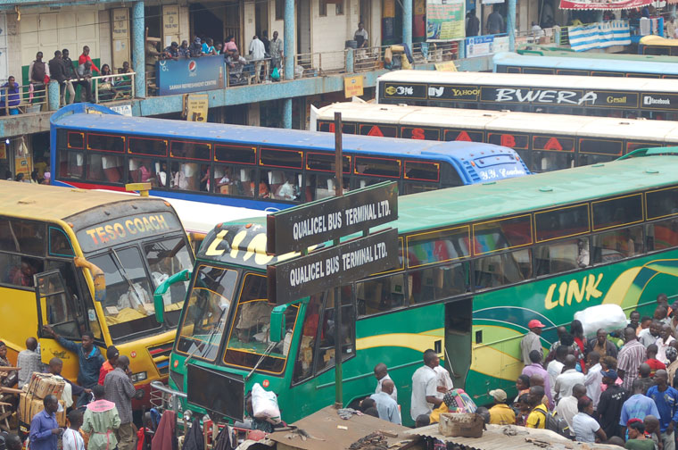 One of the bus parks in Kampala.(FILE PHOTO)