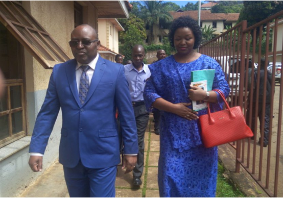 King Mumbere in the company of Queen Agnes Ithungu Asiimawe at the ICD in Kololo.(PHOTO BY RACHEAL AGABA)