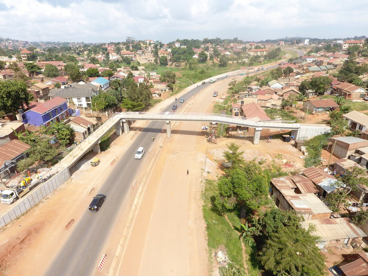Completed Footbridges on the Kampala Northern Bypass at Kyebando and Kisaasi Roundabouts (FILE PHOTO)