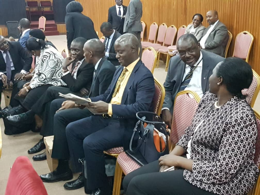Bank of Uganda officials at Parliament Thursday Morning as BoU probe closes off this week (PML Daily PHOTO)