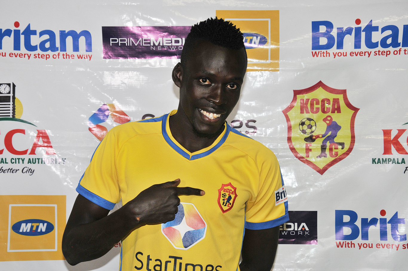 Esenu joined KCCA at the start of this season (file Photo)