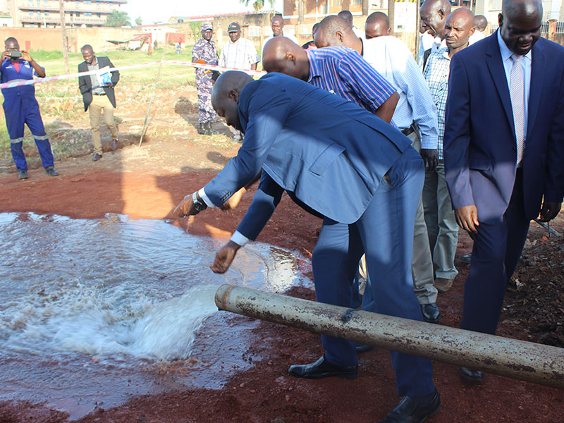 Mr Stephen Gang, the Gulu area Manager for National Water and Sewerage Corporation