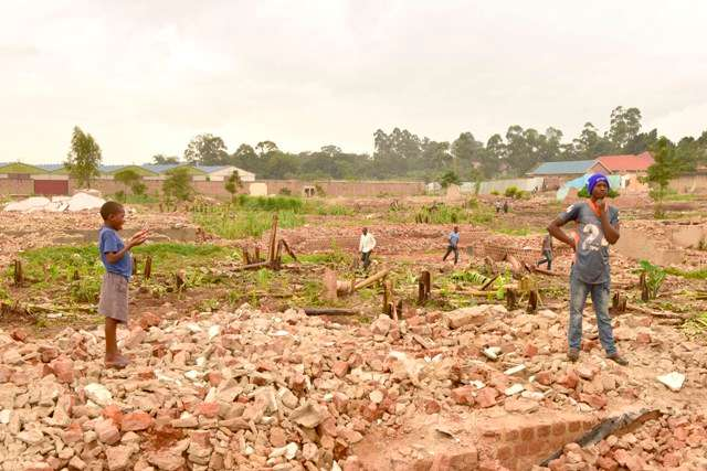 Remains of over 350 homes demolished in the recent evictions in Lusanja (FILE PHOTO)