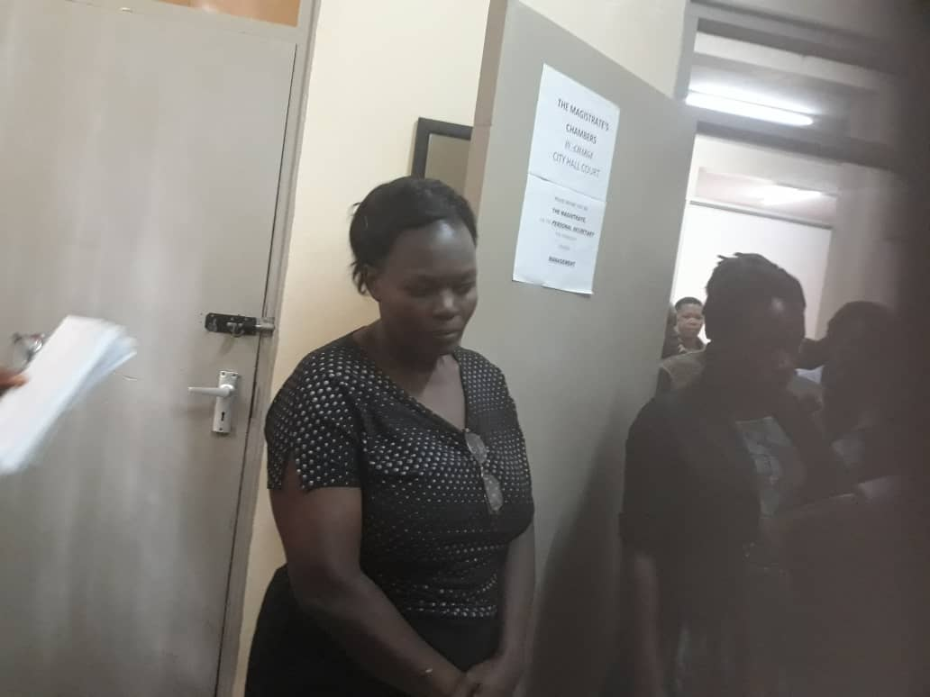 Juliet Adikolet, driver of embattled former BoU Director of Supervision, Ms Justine Bagyenda, been charged and remanded to Luzira prison over neglecting their duty (Photo by Racheal Agaba)