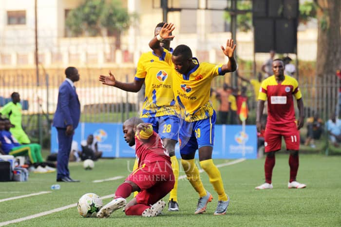 KCCA (in yellow) have now accumulated 24 points (Photo by UPL media)
