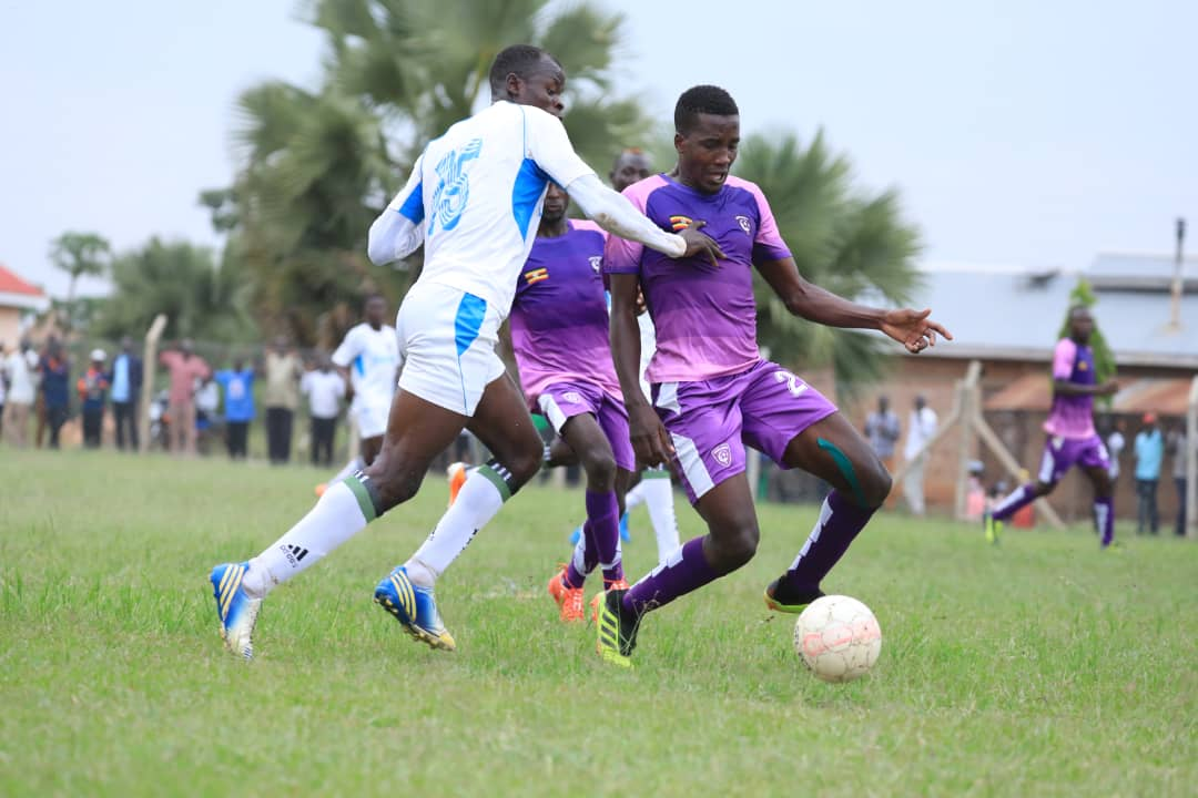 Wakiso Giants (purple) are still unbeaten in the FUFA Big League (Photo by Wakiso Giants Media)