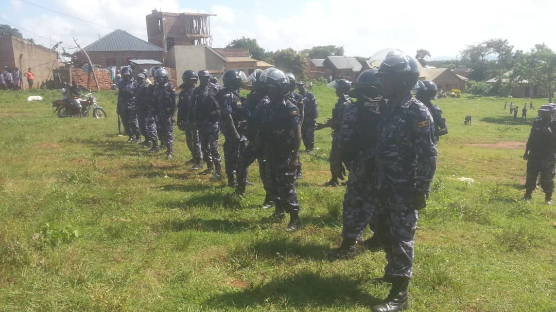 Police cordon off the Busabala one Love beach venue ahead of Bobi Wine's concert today December 26, 2018 (PML Daily PHOTO)