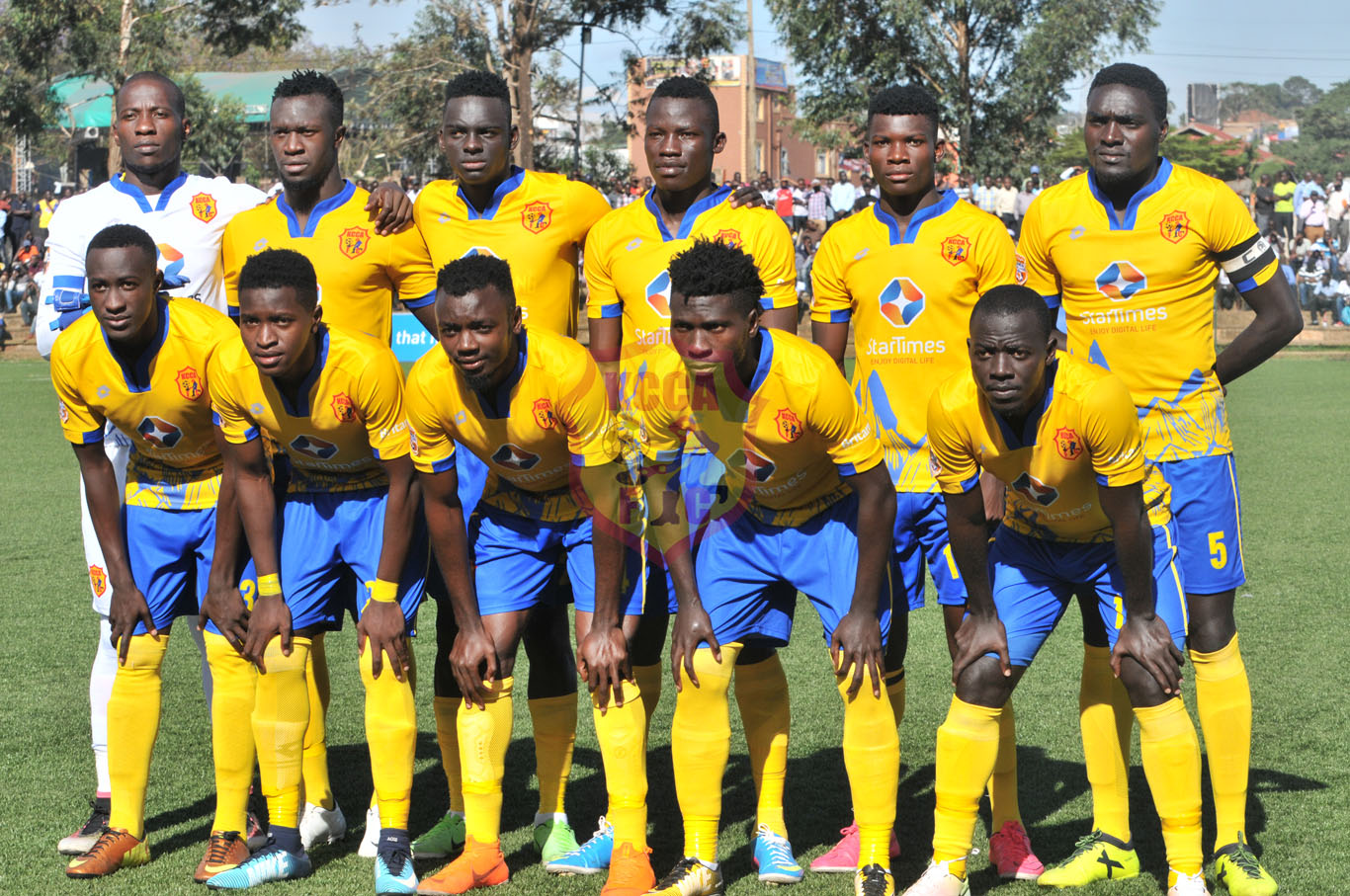 KCCA FC team that started in the 3-0 win over Paidah on Tuesday (KCCA FC Media)