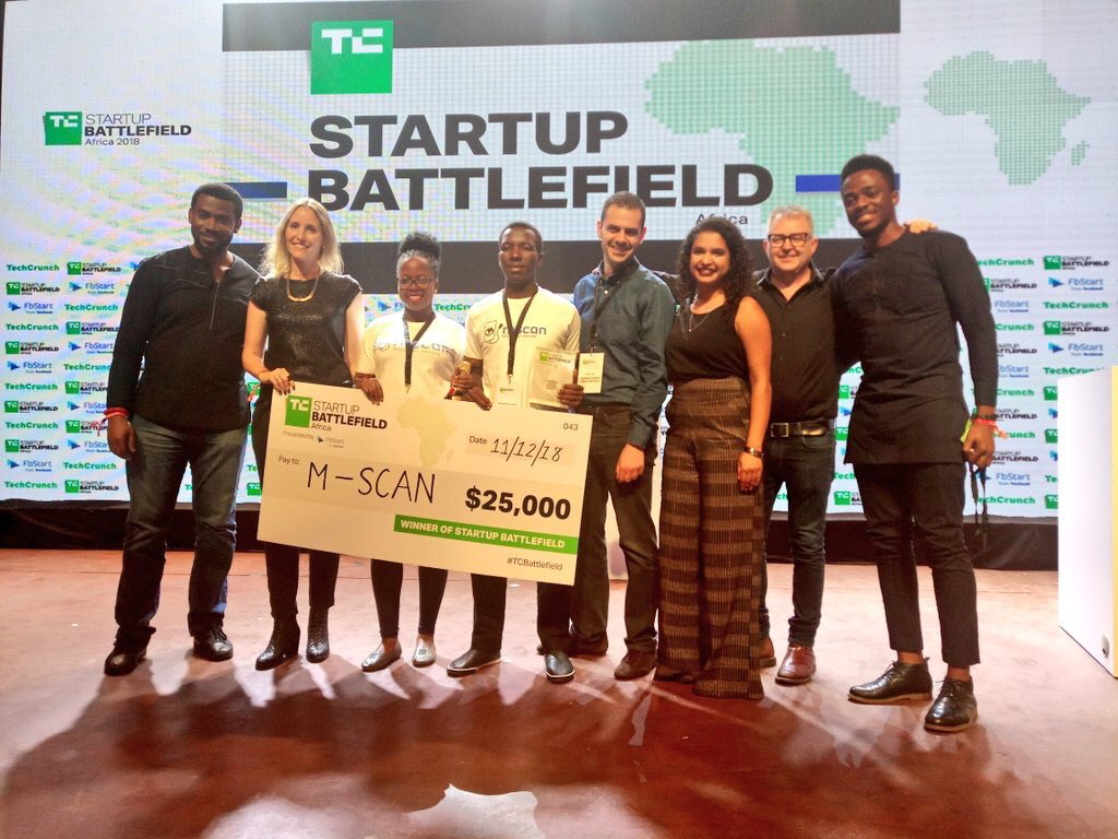 Makerere's Medical graduates are winners of TechCrunch's Startup Battlefield Africa PHOTO BY TECHCRUNCH TEAM)