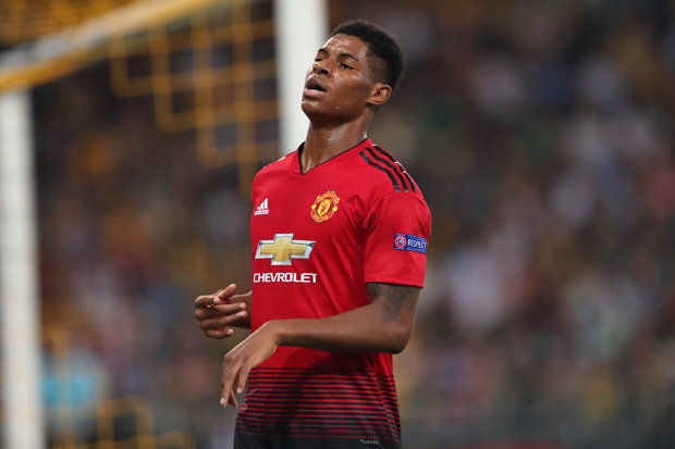 Rashford was directly involved in three goals against Fulham (Photo by Agency)