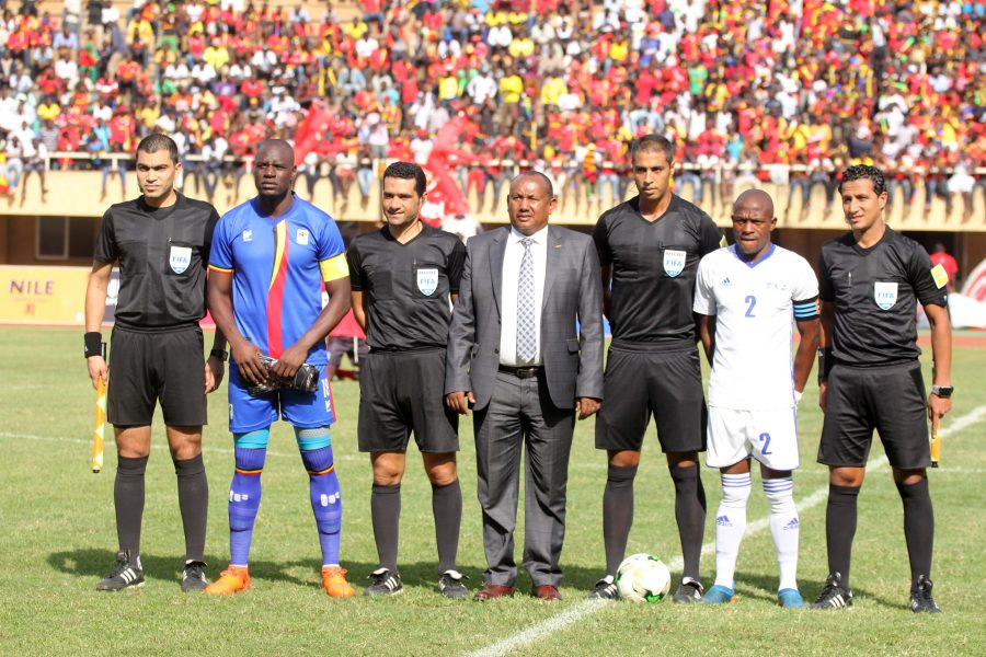 These are the same officials who took charge of the Cranes 3-0 win over Lesotho last month (file photo)