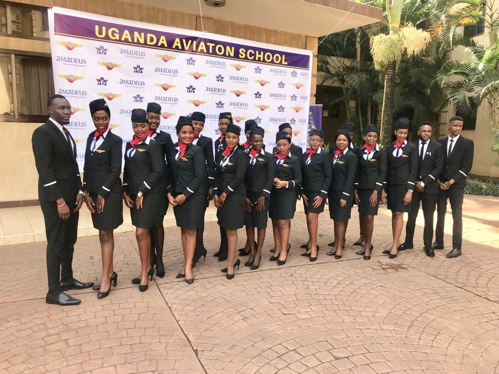 Some of the students that graduated today from Uganda Aviation school  at Pretea Hoetl in Kampala on Wednesday morning (Courtesy PHOTO)